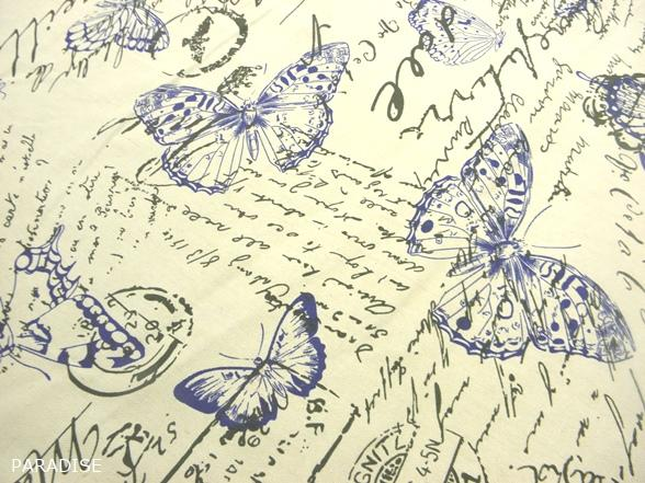 Pillangó mintás nyers dekor vászon - Paradise Méteráru - webáruház ... d6c3b44605