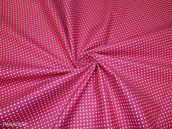 pink alapon fehér pettyes vászon