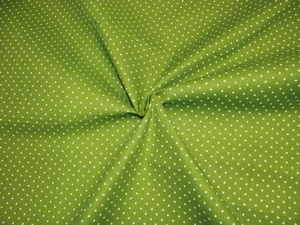 3. Zöld fehér pettyes vászon