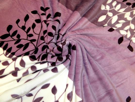 lila mintás takaró