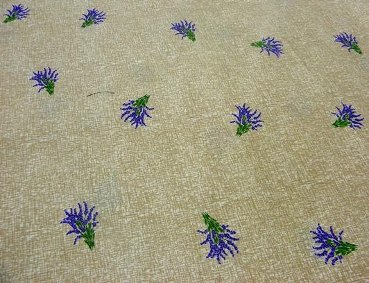 levendula mintás pamut vászon