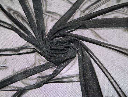fekete elasztikus tüll