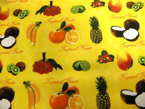 gyümölcs mintás vászon