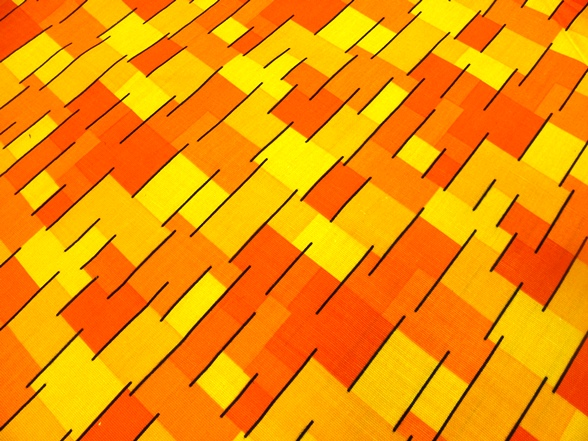narancssárga mintás bútorvászon