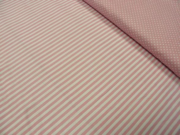 rózsaszín csíkos pamut vászon