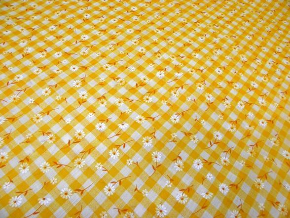 sárga kockás vászon
