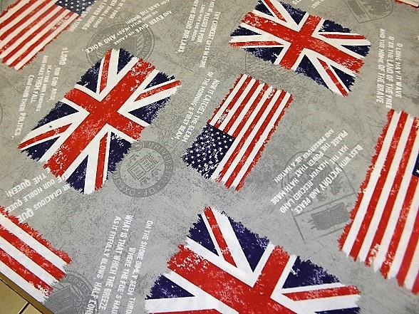 Ajánlatunk! Zászló mintás vászon