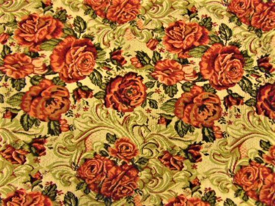 rózsás bútorszövet